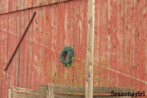 Barn with wreath