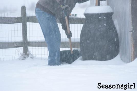 Lorne shoveling