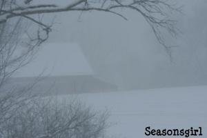 Barn snow