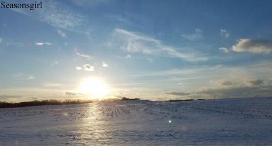 sky snow
